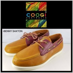 BRAND NEW COOGI LEATHER OXFORD BOAT STYLE SHOES